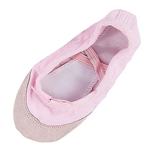 Gleader Groesse 22 Ballettschuhe Leinwand Tanzschuhe Pantoffeln Fuer Kleinkind Maedchen