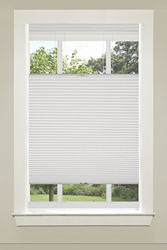 "Achim Home Furnishings Top-Down Cordless Honeycomb Cellular Pleated Shade, 23 by 64"", White"
