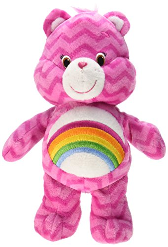 Just Play Care Bears Chevron Bean Plush, Cheer - Care Bears Stuffed Animals
