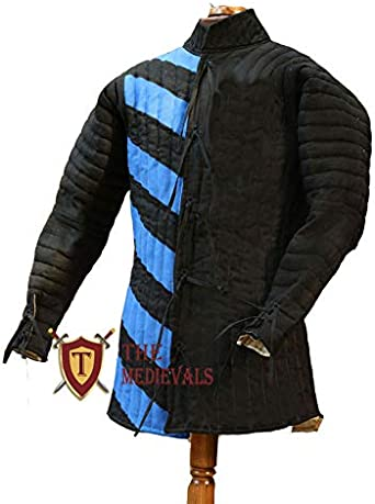 Details about  /Medeival Cotton Gambesion Full sleeve  Full Padded  Jacket Coat Armour costumes