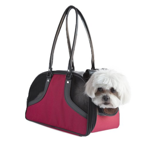 Petote Roxy Pet Carrier Bag, Red, Small