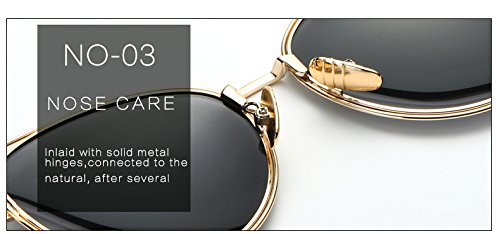femmes Sunglasses Oculos Femme Brand Th¨¦ AT9007 soleil ¨¦vider Zygeo Lunettes M¨¦tal de th¨¦ Miroir C2 Eye Cat C2 Designer Grand Cadre Polarized qBantWI