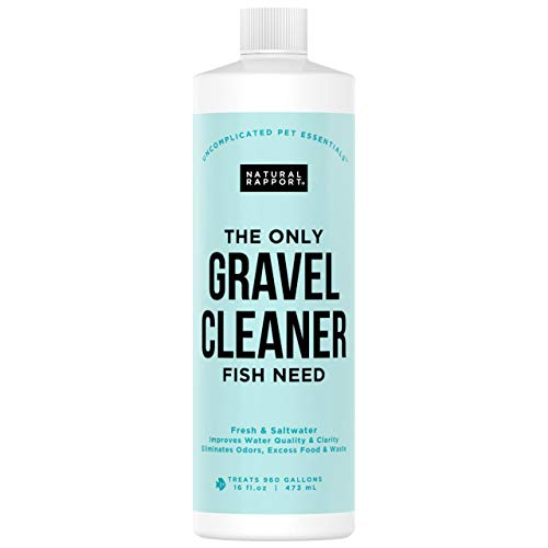 Professional Aquarium Gravel Cleaner - The Professionals Secret to Naturally Maintaining a Healthier Tank, Reducing Fish Waste and Toxins, 16 Ounces Treats 960 gallons ()