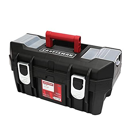 Craftsman 19 Inch Tool Box with Tray – Black/Red