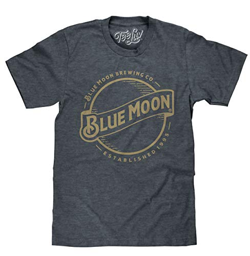 Tee Luv Blue Moon Beer T-Shirt - Blue Moon Brewing Company Gold Logo Shirt (XXX-Large)