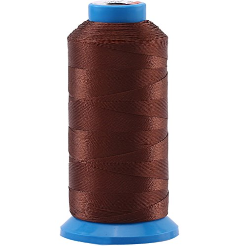 (Selric [1500 Yards/Coated/No Unravel Guarantee/21 Colors Available] Heavy Duty Bonded Nylon Threads #69 T70 Size 210D/3 for Upholstery, Leather, Vinyl, and Other Heavy Fabric (Coffee))