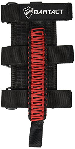 (Bartact TAOGHUPBR - Universal Paracord Grab Handles (Pair) - Jeep Wrangler - Black/RED)