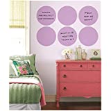 Brewster Wall Pops Peel & Stick Plush Purple Dry-Erase Dot Wall Decals with Marker, 6-Count