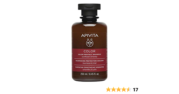 Apivita - Champú protector de color girasol & miel