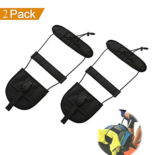 Terminal Travel Bag (Bag Bungee,Luggage Strap Bungee Add a Bag -Justdo Adjustable Travel Suitcase Belt Attachment Accessories - Terminal Friendly Travel Bag Bungee Strap (2 pack))