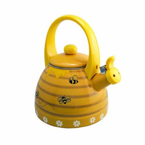 yellow tea kettle whistling - 7