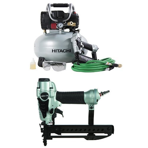 Hitachi Narrow Crown Stapler, 18 Gauge with Finish Combo Kit