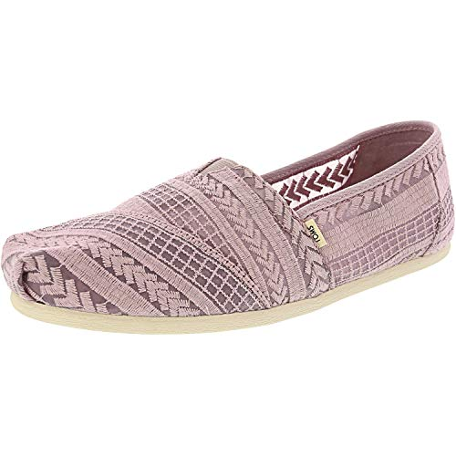 Embroidered Wedge - TOMS Women's Alpargata Burnished Lilac Arrow Embroidered Mesh 6.5 B US
