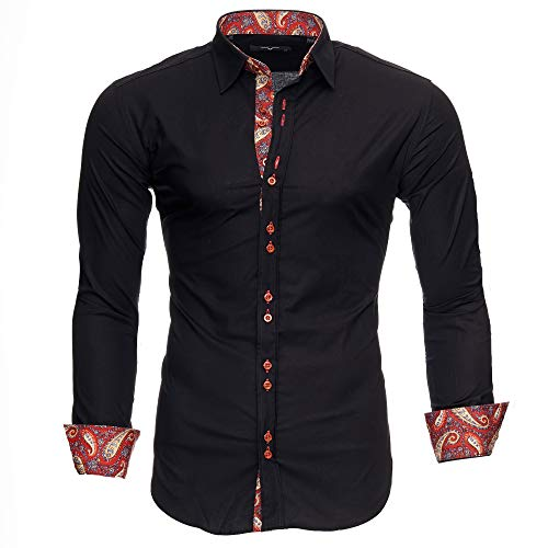 Chemises Royal NoirBordeaux Homme Slim Coupe S Kayhan Chemise 6xl Paisley ywON8mnv0