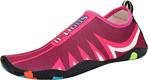 Strand Wasserschuhe Gaatpot Schwimmschuhe Aqua Surfschuhe Herren Badeschuhe Strandschuhe Schuhe Pink Sommer Rosa Aquaschuhe Rutschfest Damen XqfftFw