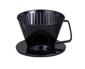 HAROLD  Plastic Coffee Maker Filter Cone, Medium, Black