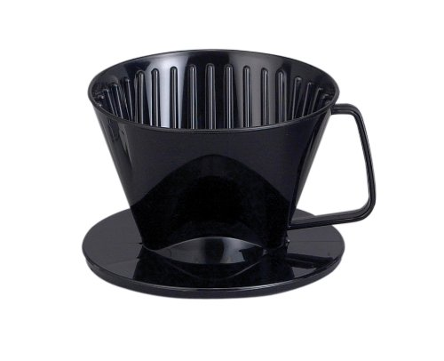 HAROLD 2661 NT1044 Plastic Coffee Maker Filter Cone, Medium, Black ()