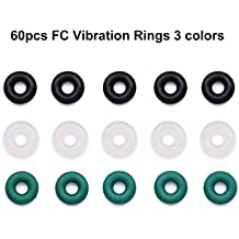 60pcs O-rings Nitrile Vibration Isolation Flight Controller Protection Rubber Band for RC F4 F7 Flight Controller Green White Black