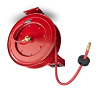 TEKTON 46781 Retractable Air Hose Reel with 50-Feet by 3/8-Inch Goodyear Rubber Air Hose [Discontinued]