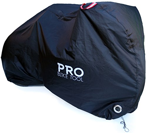 Pro Bike Cover for Outdoor Bicycle Storage - XLarge - Heavy Duty Ripstop Material, Waterproof & Anti-UV - Protection from All Weather Conditions for Mountain, 29er, Road, Cruiser & Hybrid Bikes (Best Car Cover For Indoor Storage)