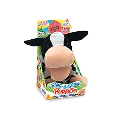 Mindscope Sing-A-Song Puppets Electronic Singing Animal Puppets Make Animal Noises And Also Sing Old Macdonald And If You Are Happy And You Know It (Cow): Office Products