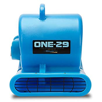 Image of Home and Kitchen BlueDri One-29 1/3 HP High Velocity Heavy Duty Portable Air Mover Floor Carpet Dryer Blower Fan for Water Damage Equipment Restoration, Blue