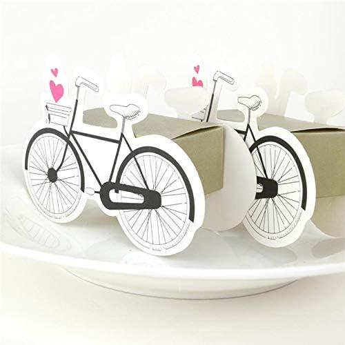 PatyHoll 50 Cajas de Regalo de Caramelos con Forma de Bicicleta ...