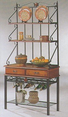 Coaster-5424-Kitchen-Cabinet-Bakers-Rack-With-3-Shelves-Tobacco-Finish