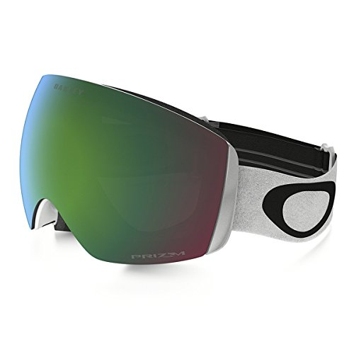 Oakley Flight Deck XM (A) Snow Goggles, Matte White, Prizm Jade Iridium, - Xm Goggles Deck Snow Flight Oakley Women's