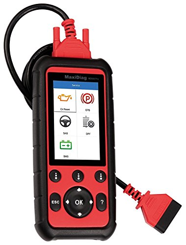 Autel MaxiDiag Advanced MD808 (MD808 Pro) All System OBDII Scanner (Combination of MaxiCheck Pro and MD802) for Oil and Battery Reset Registration, Parking Brake Pad Relearn,SAS,SRS,ABS,EPB,DPF,BMS