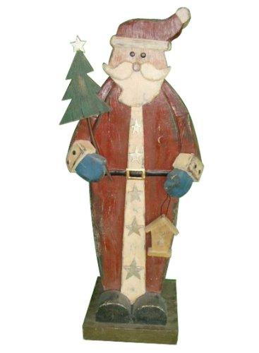 HomeView Design Santa Woodland Design Holding Christmas Tree -