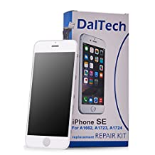 "iPhone SE Screen Replacement- by [DalTech] iPhone SE 4"" White LCD Screen Display Digitizer Frame Assembly Replacement Kit with 11 Free Tools + Screen Protector (White)"