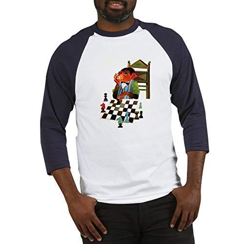 CafePress Monkey Playing Chess Baseball Jersey Cotton Baseball Jersey, 3/4 Raglan Sleeve Shirt -