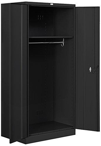 Salsbury Industries Wardrobe Heavy Duty Storage Cabinet, 78-Inch by 24-Inch, Black (78 Inch Storage Cabinet)