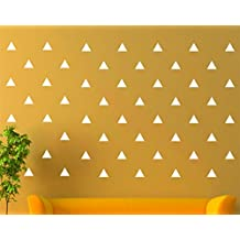JCM CUSTOM Removable Easy Peel and Stick, Wall Vinyl Decal Sticker, DIY Decor/Safe on Painted, Triangle, White, Set of 96 +