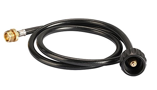 4' Cylinder (KIBOW Type 1(QCC 1) Propane Hose& Adapter/Connects 1LB Propane Tank Connector Appliances to a Refillable Bulk Propane Cylinder-4Ft Long-CSA Certified)