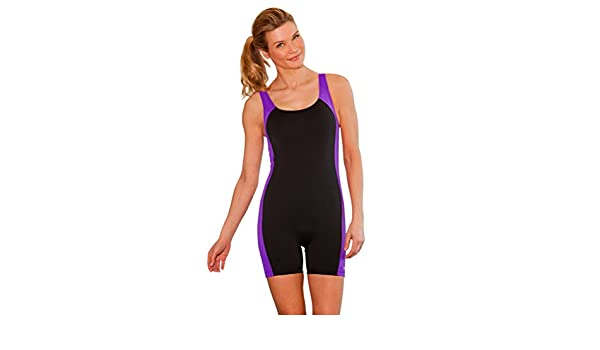 Amazon.com  Waterpro Spliced Unitard Chlorine Resistant Swimsuit Amethyst  10  Clothing 6059138f8