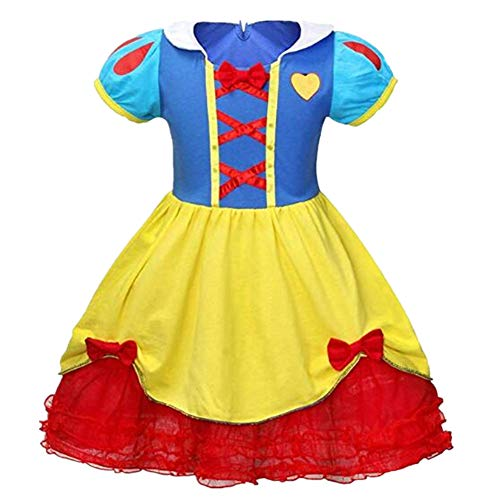 Tsyllyp Girls Princess Dress Snow White Costume]()