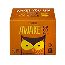 AWAKE Caffeinated Chocolate Energy Bites, Caramel, 30Count