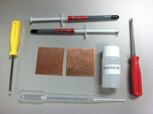 - Playstation 3 PS3 Slim YLOD Shims Fix Repair Kit Thermal Paste Kester 951 Flux Tamper Security T8 & T10 torx screwdrivers