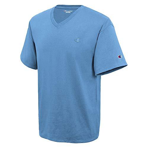 Champion Men's Classic Jersey V-Neck T-Shirt, Swiss Blue, 2XL ()
