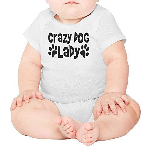 lsawdas Crazy Dog Lady Unisex Baby Cotton Short Sleeve Toddler Clothes Baby -