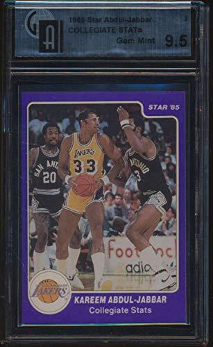 - 1985 Star Abdul-Jabbar #2 Kareem Abdul-Jabbar College Stats GAI 9.5 GEM 49912