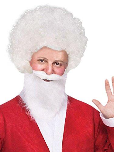 Forum Novelties Unisex Afro/Clown Wig,  White, One Size