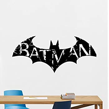 Batman Wall Decal Arkham Logo Emblem Logotype Superhero Comics Cartoon  Poster Wall Vinyl Sticker Kids Teen
