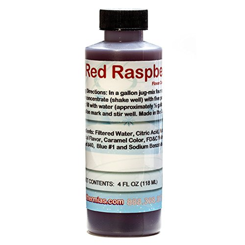 Red Raspberry Shaved Ice and Snow Cone Flavor Concentrate 4 Fl Ounce -
