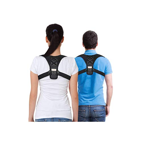 (FitCorrect Posture Corrector for Men and Women - Comfortable Upper Back Brace Clavicle Support Strap for Thoracic Kyphosis and Shoulder)