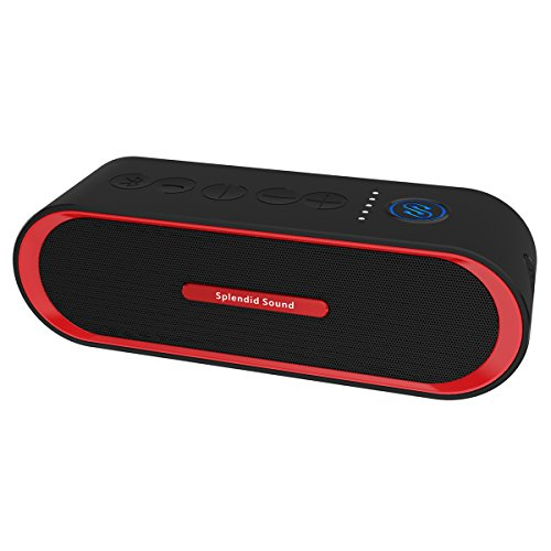 Portable Bluetooth Speaker, 2x8W iPop Outdoor Wireless Speaker 4.2 Powerful Stereo Sound with Awesome Bass and Built-in Mic , Works for iPhone, iPad, Phones, Laptops and More (Red) by Iotton (Image #7)