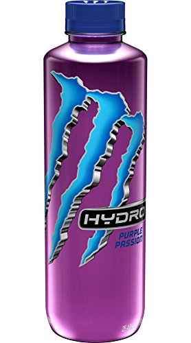 Monster Energy Hydro Sports Drink, Purple Passion, 25.4 ounce (Pack of 12)