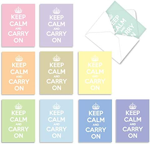 10 'Calm and Colorful' Note Cards...